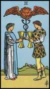 聖杯の2(正位置)