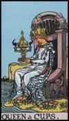 聖杯の女王(正位置)