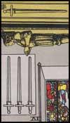 剣の4(逆位置)